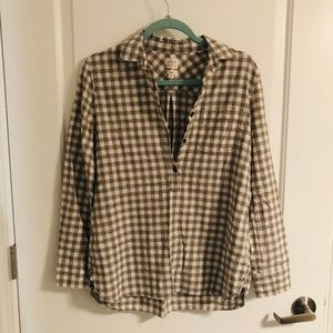 Gingham J Crew Boy Fit Pullover